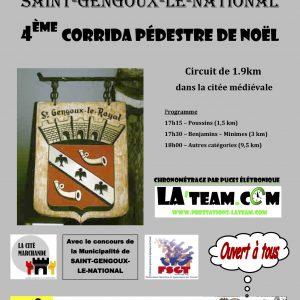 Inscrits et résultats de la corrida de Noël de St Gengoux-le-National