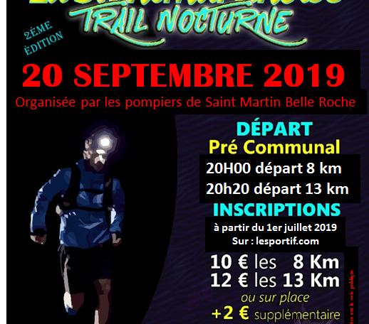 Trail nocturne Saint martin belle roche